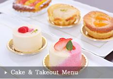 Cake & Takeout Menu